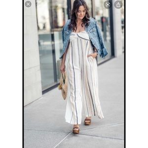 FREE PEOPLE jumpsuit striped 'breezin through'